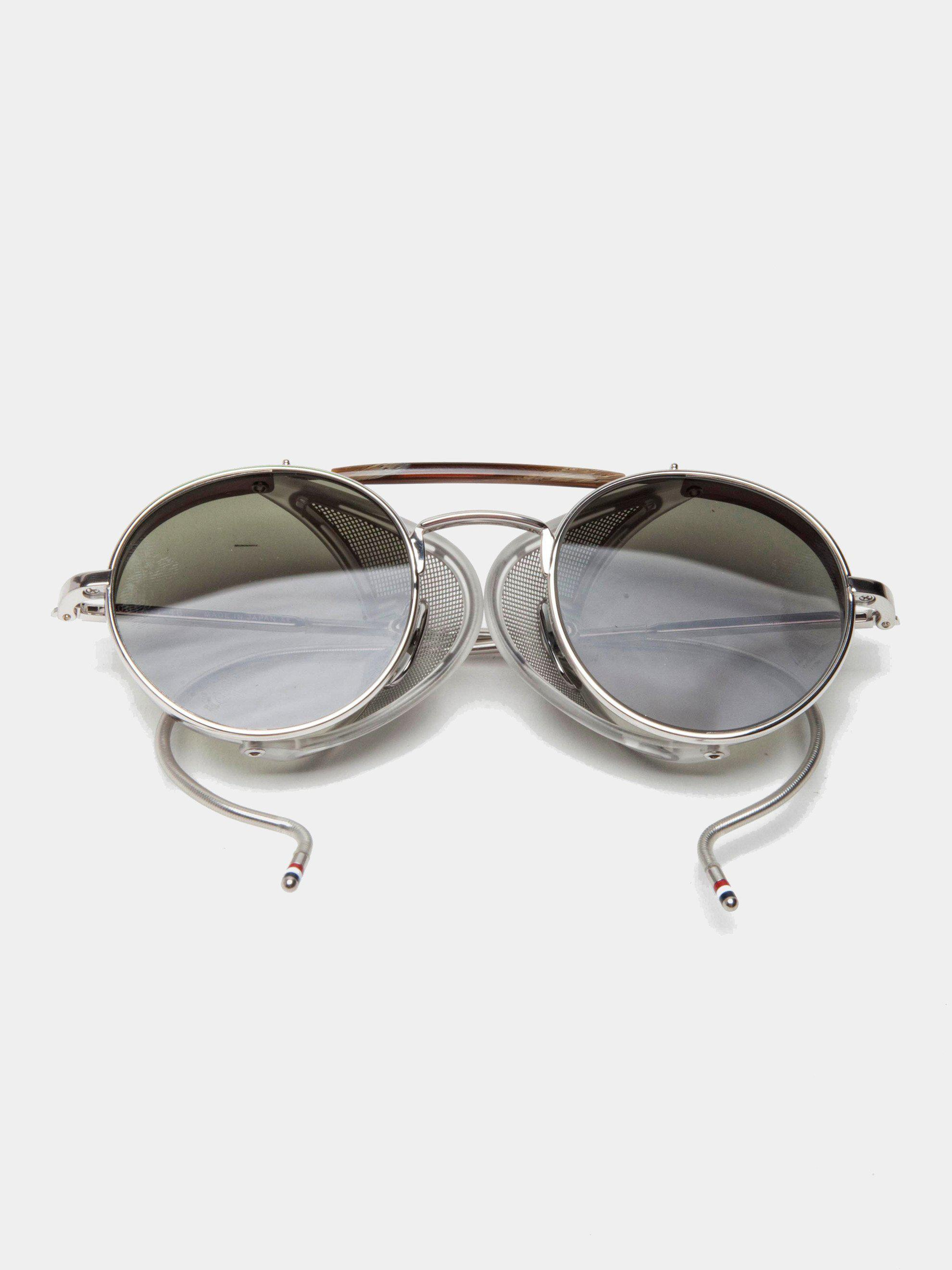 e03e7386faf2 Lyst - Thom Browne Tb-001 (shiny Silver g-15) in Metallic for Men