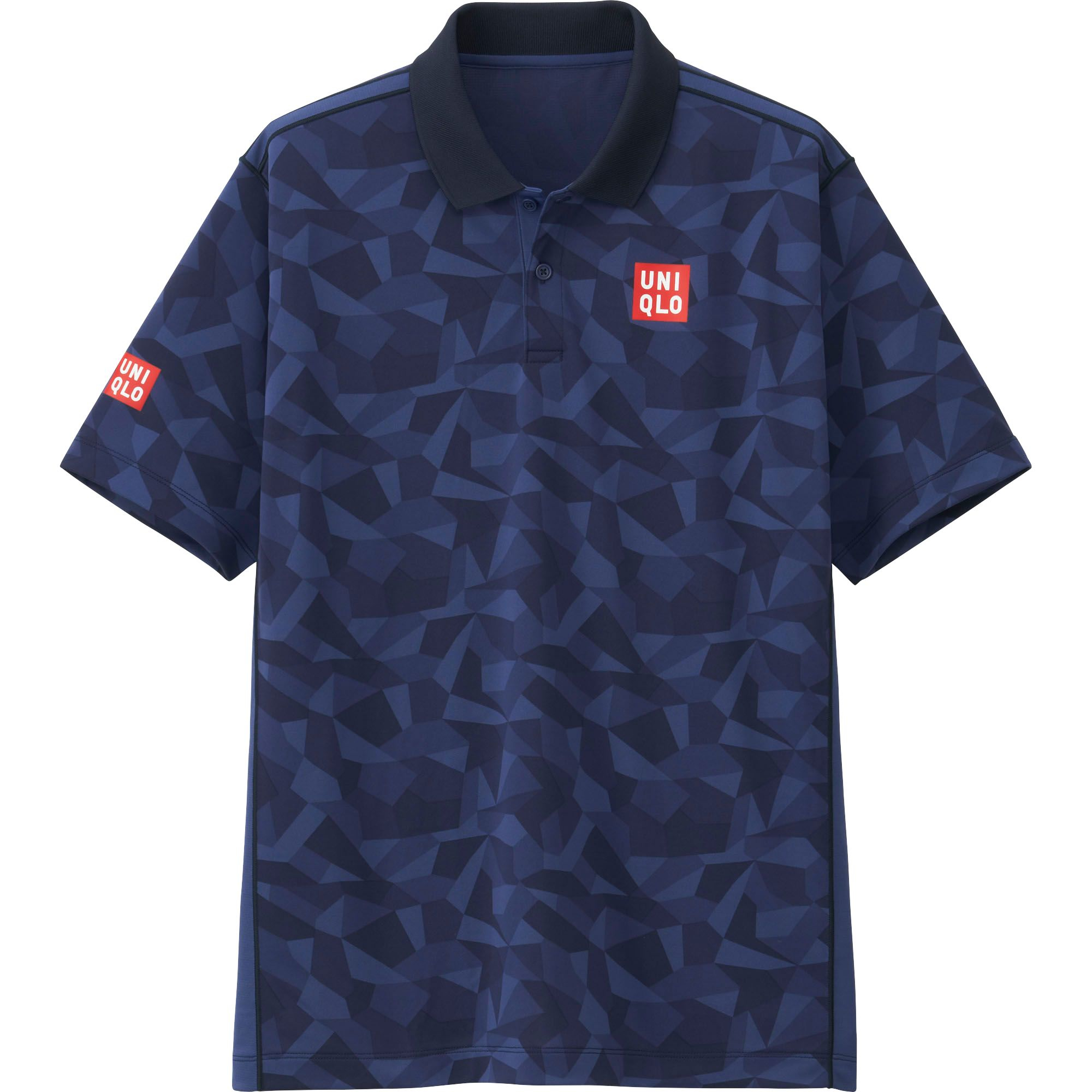 Uniqlo Men Nk Dry Ex Short Sleeve Polo Shirt 16us In Blue