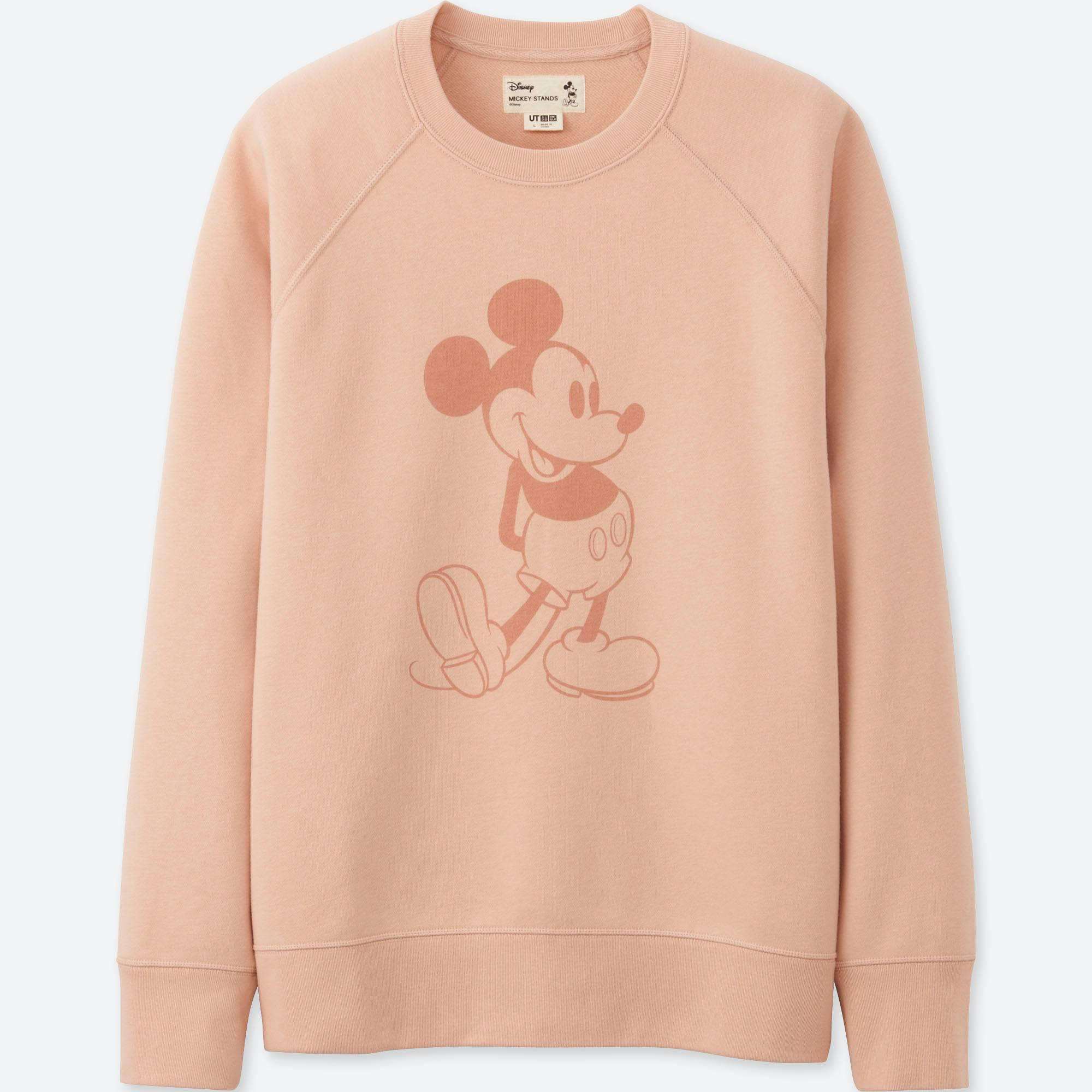 2259c6b33f8 Lyst - Uniqlo Men Mickey Stands Sweatshirt in Pink