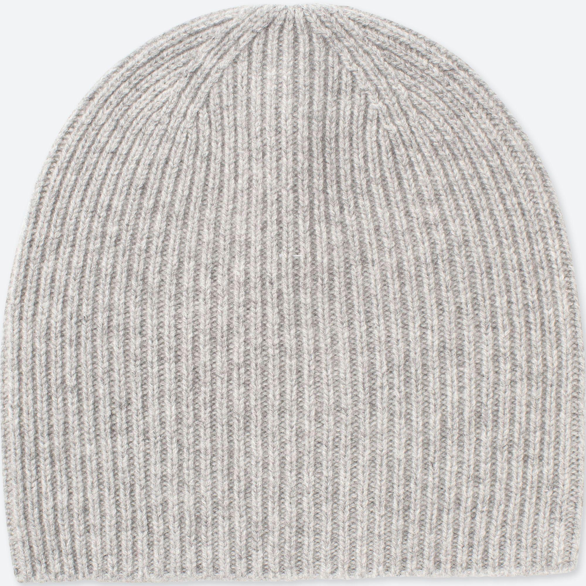80a086e1dd62a Uniqlo Cashmere Knitted Beanie in Gray - Lyst