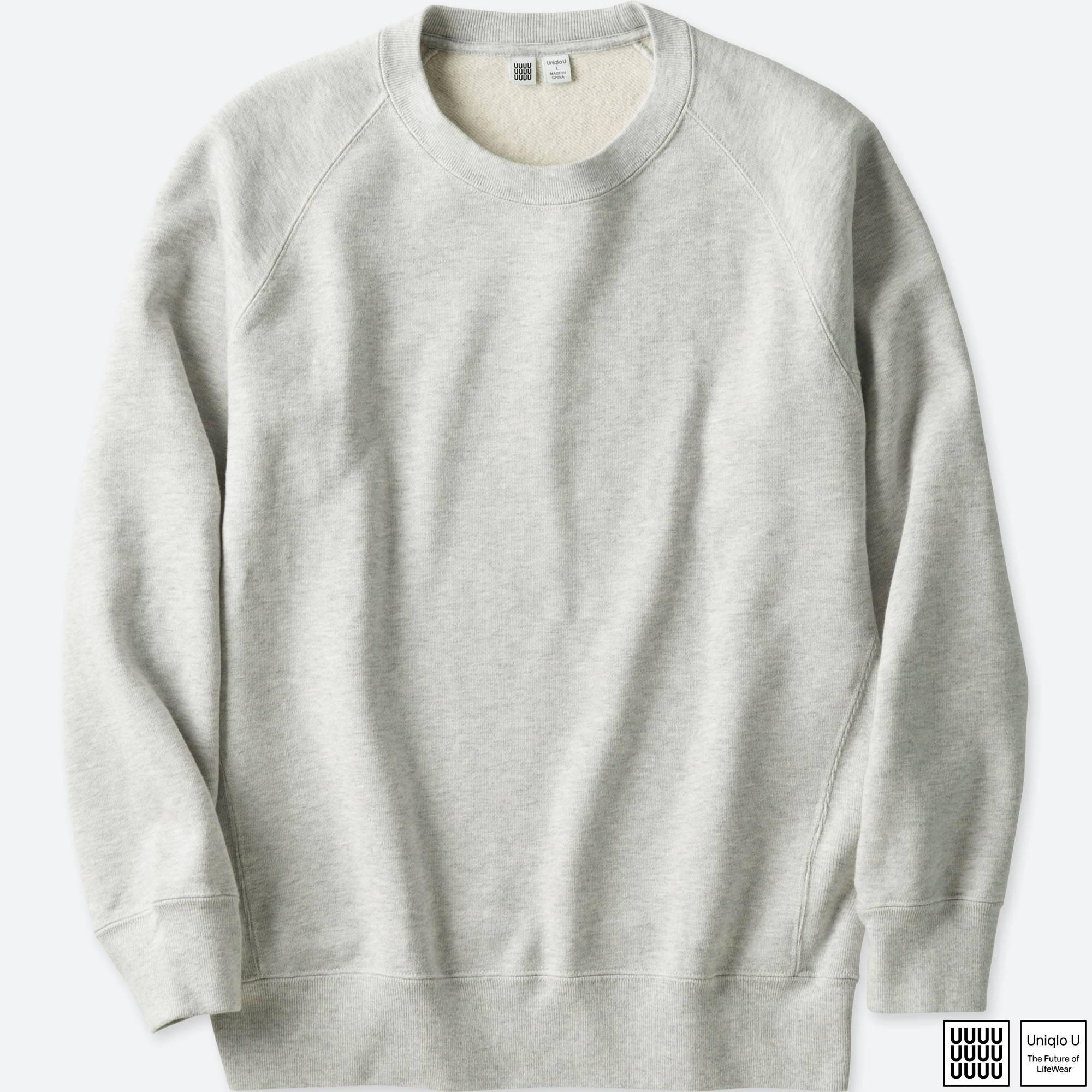 c808beb095 Lyst - Uniqlo Men U Long-sleeve Sweatshirt in Gray for Men