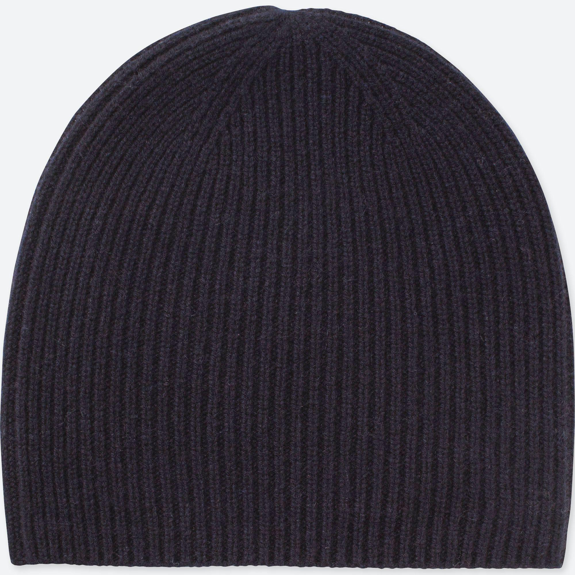 Uniqlo Cashmere Knitted Beanie Hat in Blue - Lyst 1f2c13ad1632