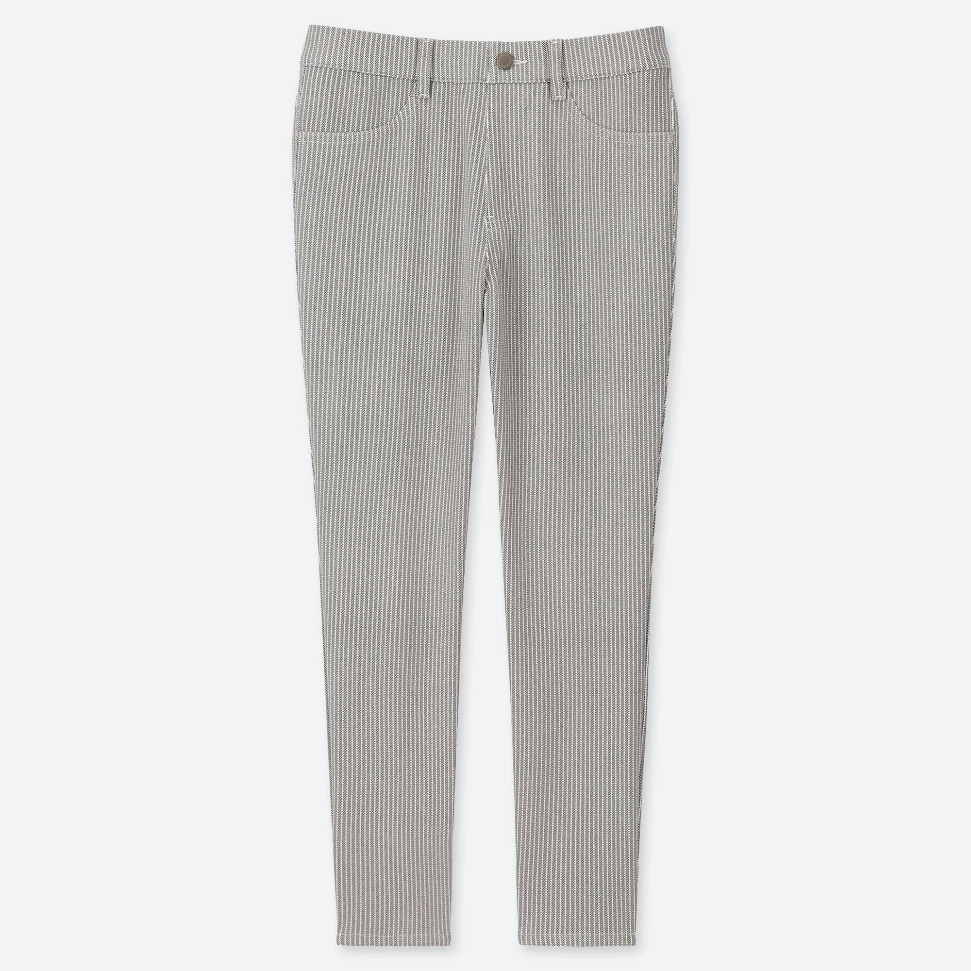 1f10e30edea9 Lyst - Uniqlo Women Ultra Stretch Print Cropped LEGGINGS Pants in Gray