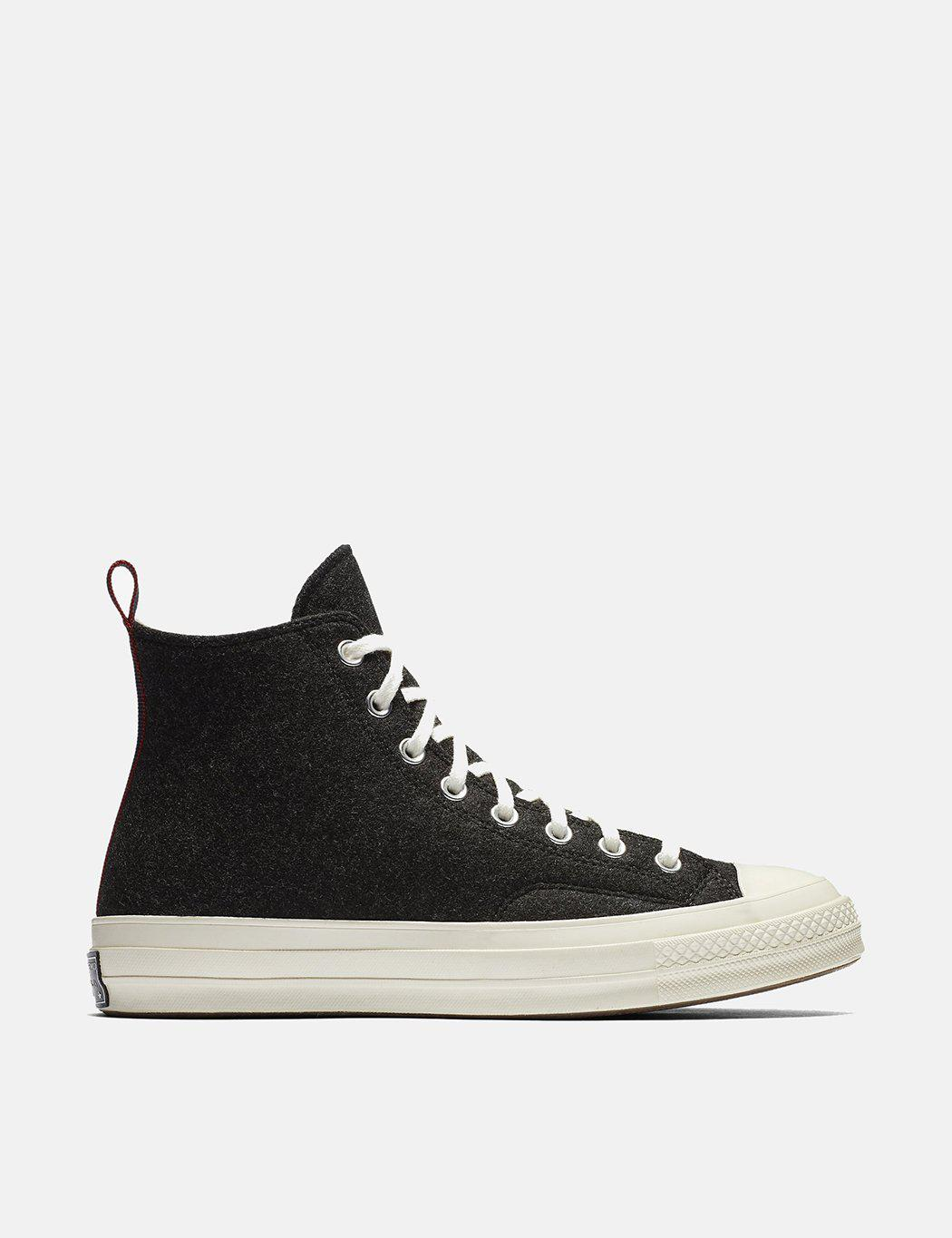 fcaefb698c1f6d Converse 70 s Chuck Taylor Hi (felt) in Black for Men - Lyst