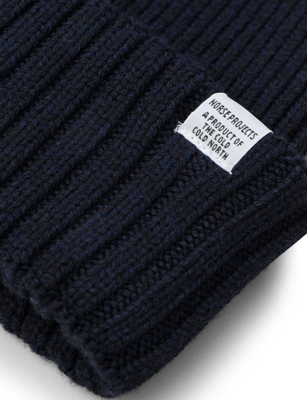 6f67a8a1b04 Lyst - Norse Projects Chunky Rib Beanie Hat in Blue for Men - Save 11%