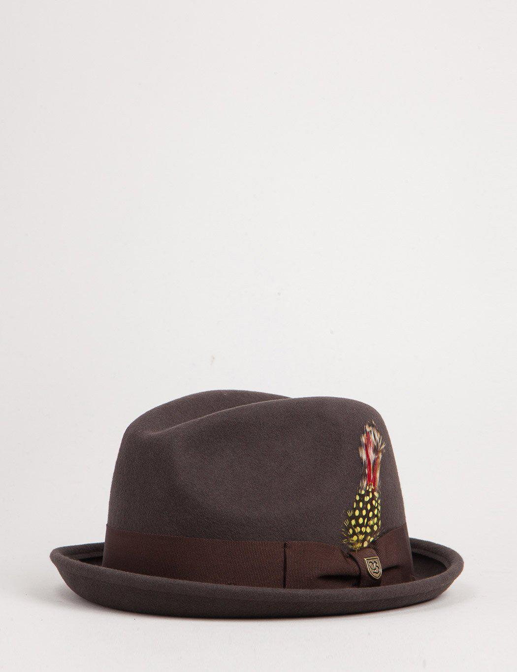 Lyst - Brixton Gain Trilby Hat in Brown for Men b48615d6bcf9