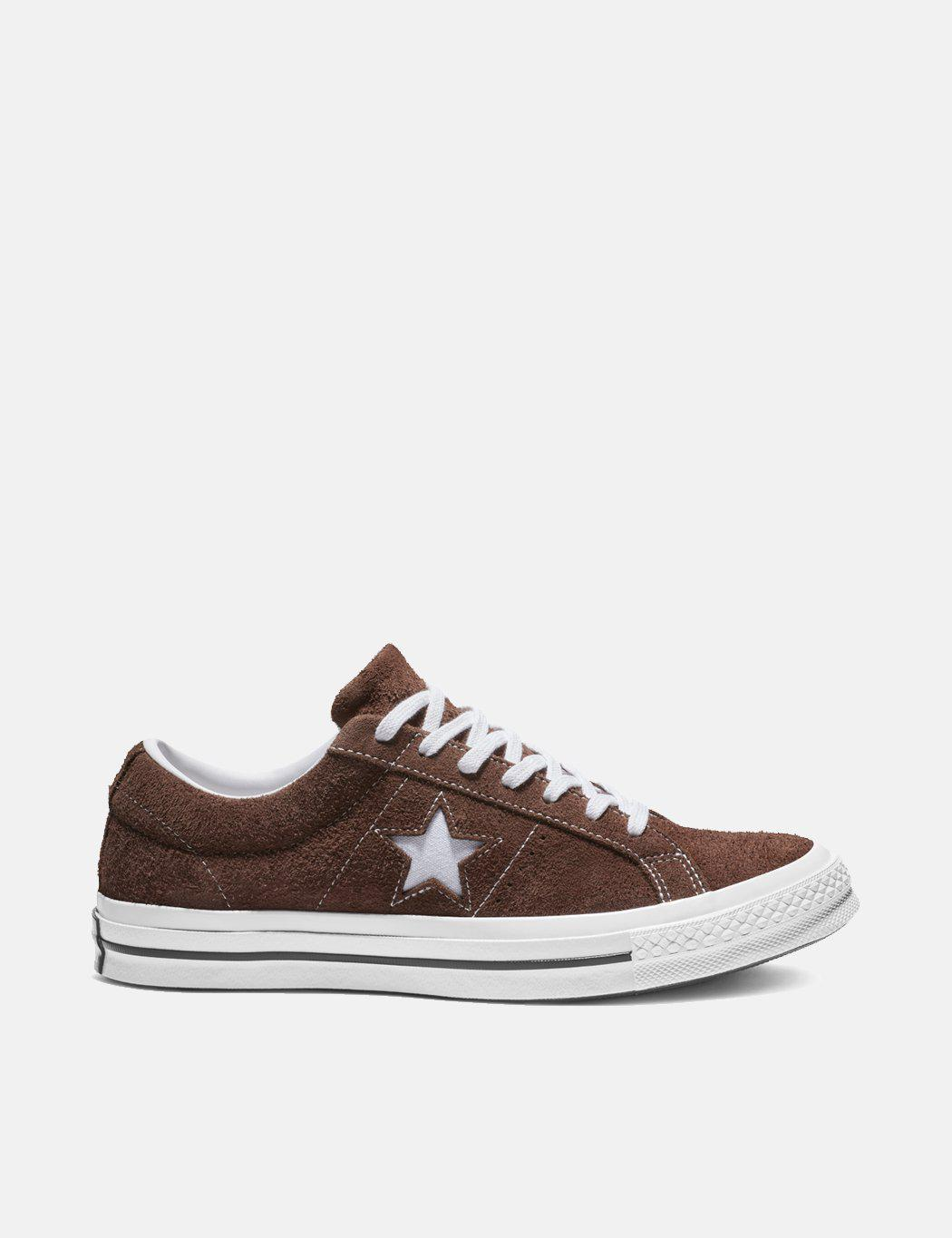5881112f1149 Converse One Star Ox Low Suede (162573c) in Brown for Men - Save 62 ...
