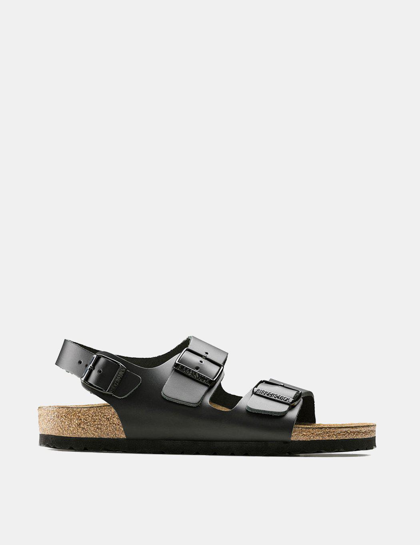 d945ab6e787b Birkenstock Milano Sandals (regular) in Black for Men - Lyst