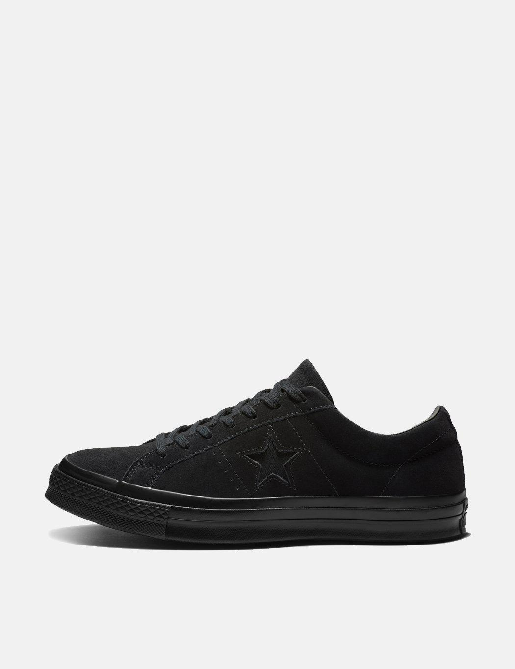 Converse One Star Ox Low Suede (162950c) in Black for Men - Save 78% - Lyst d6401036e
