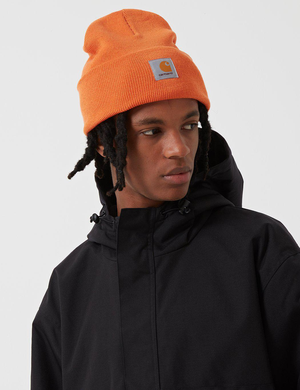 73f95041bd4 Carhartt watch cap beanie hat in orange for men lyst jpg 1050x1365 Mens  carhartt beanie