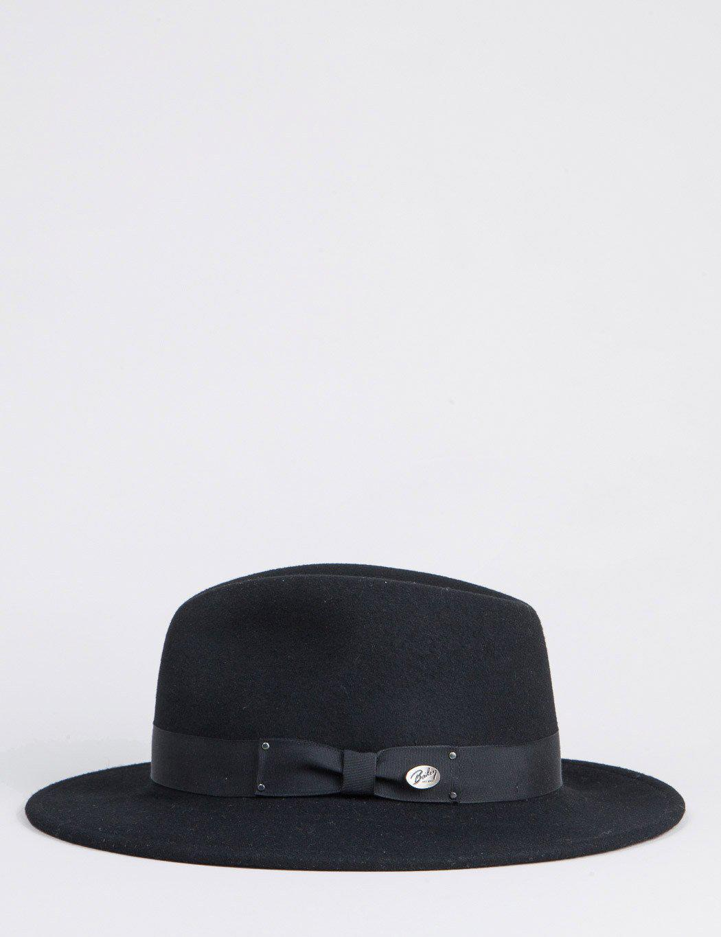 e6f2d8698d3 Bailey of Hollywood Bailey Curtis Widebrim Fedora Hat in Black for Men -  Lyst