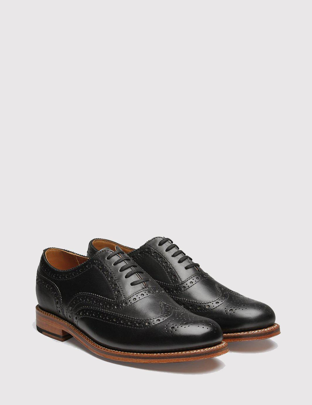 Mens Angus Leather Wingtip Balmorals Grenson Free Shipping Clearance Store Clearance Limited Edition Cool Shopping Under 50 Dollars Sale Fashionable 1fhUb1nTB
