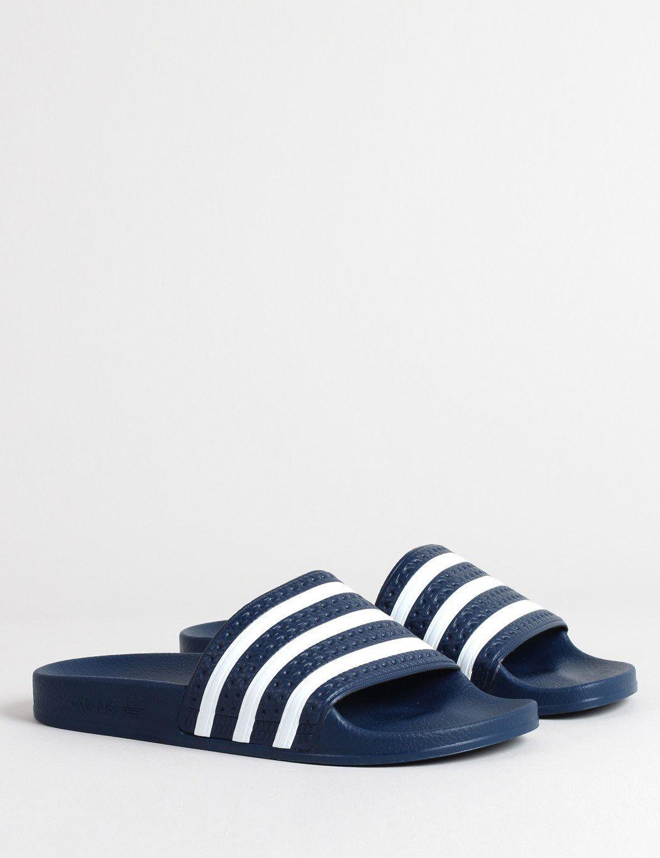 7fa67ec184f Lyst - adidas Originals Adidas Adilette Slides (288022) in Blue for Men -  Save 44%