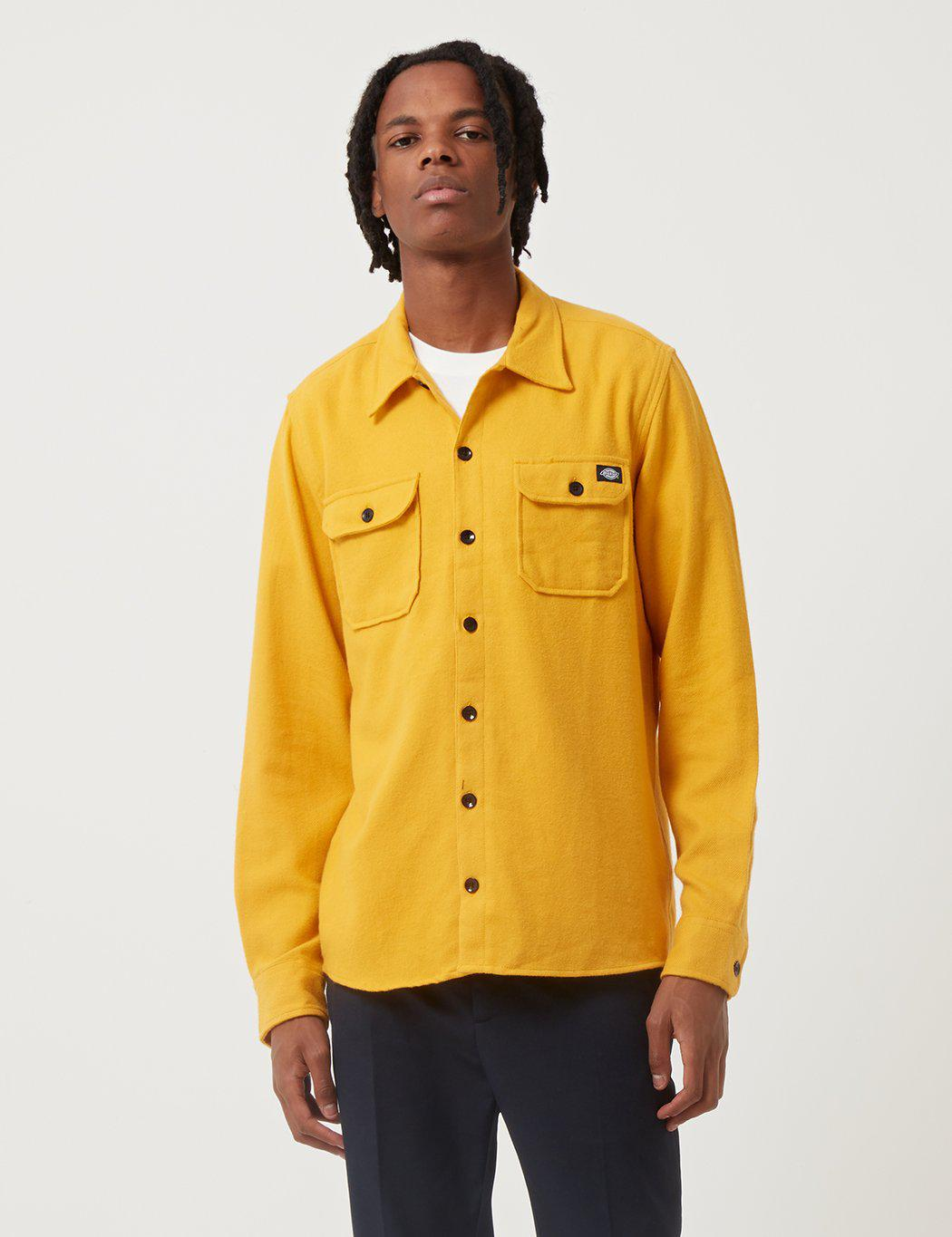 Lyst Dickies Glenville Shirt In Yellow For Men Save