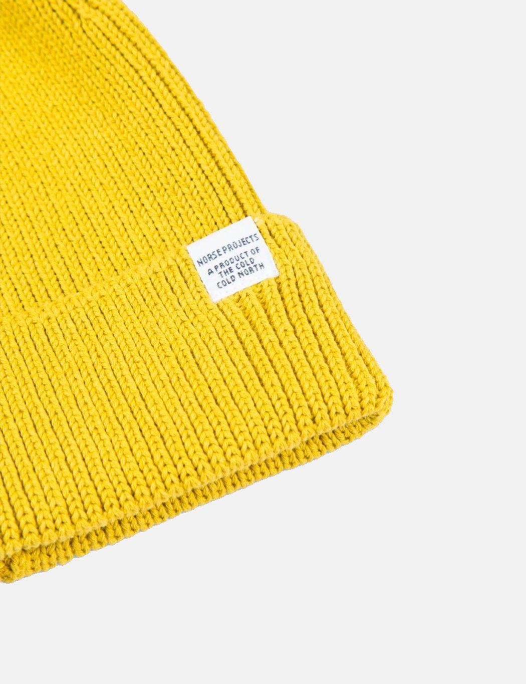 1416cad4856 Lyst - Norse Projects Cotton Watch Beanie Hat in Yellow for Men