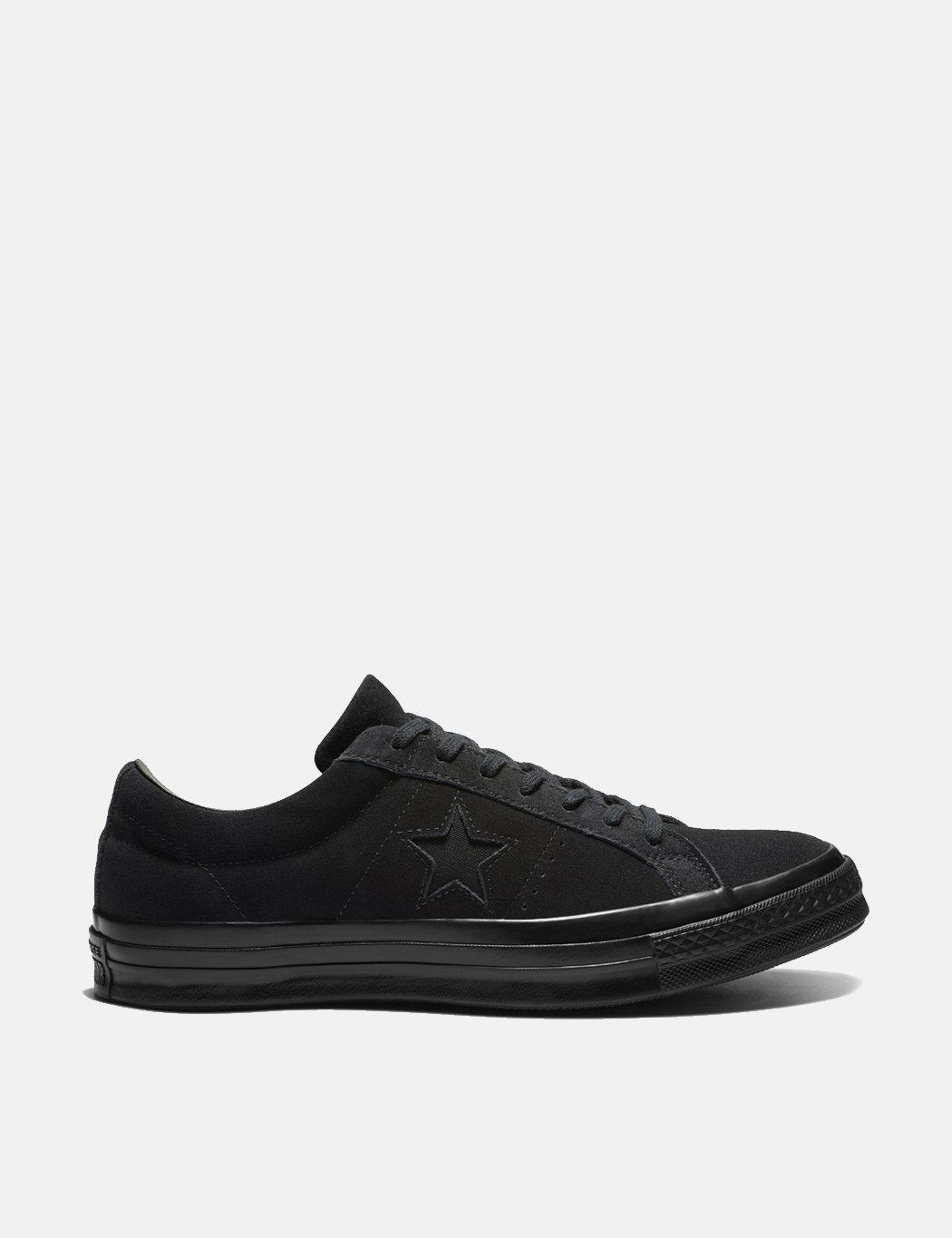 Lyst - Converse One Star Ox Suede Sneakers in Black for Men - Save 77% 8067a414c