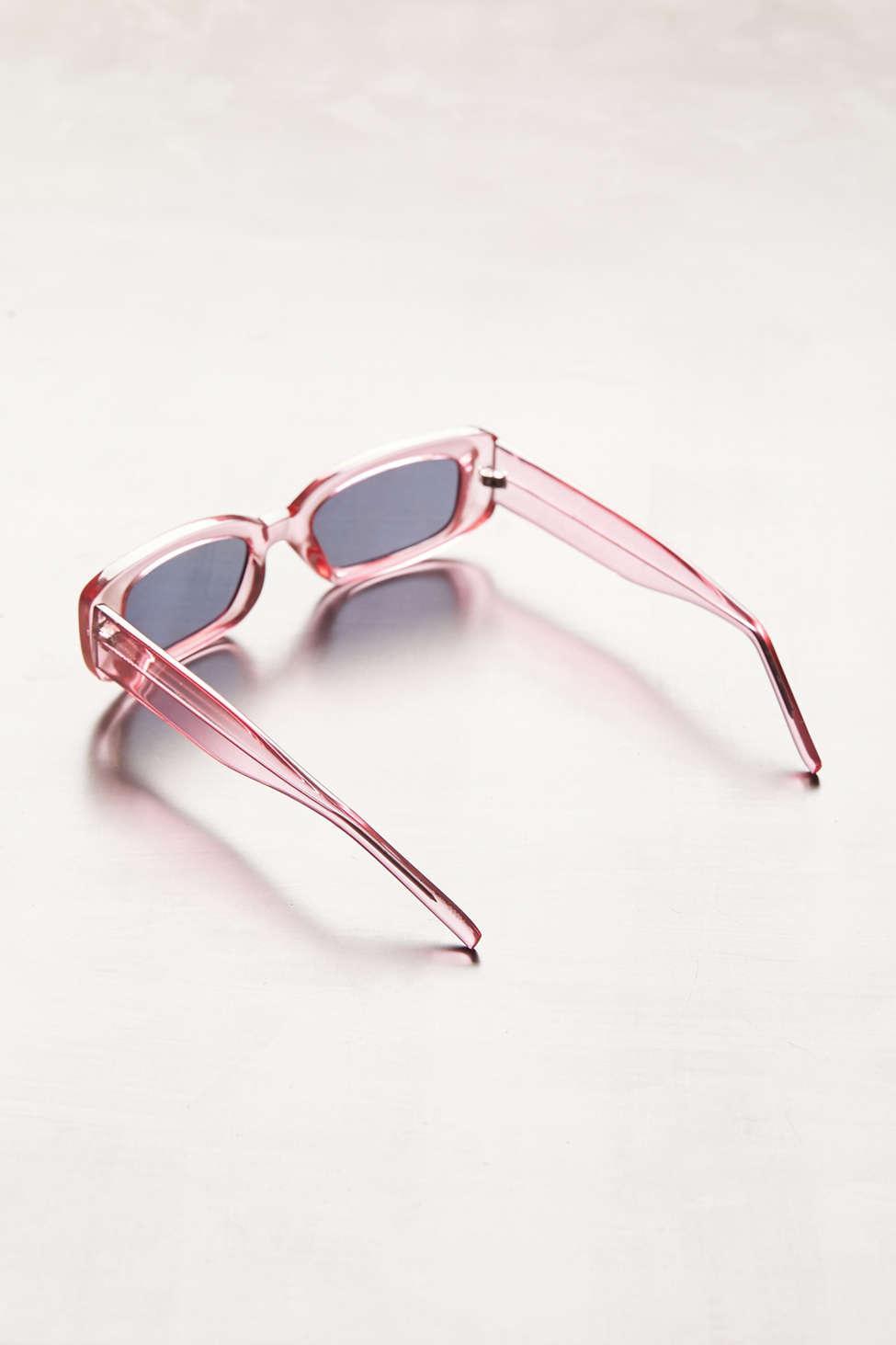 e9b0e8506c Urban Outfitters - Pink Reese Slim Rectangle Sunglasses - Lyst. View  fullscreen