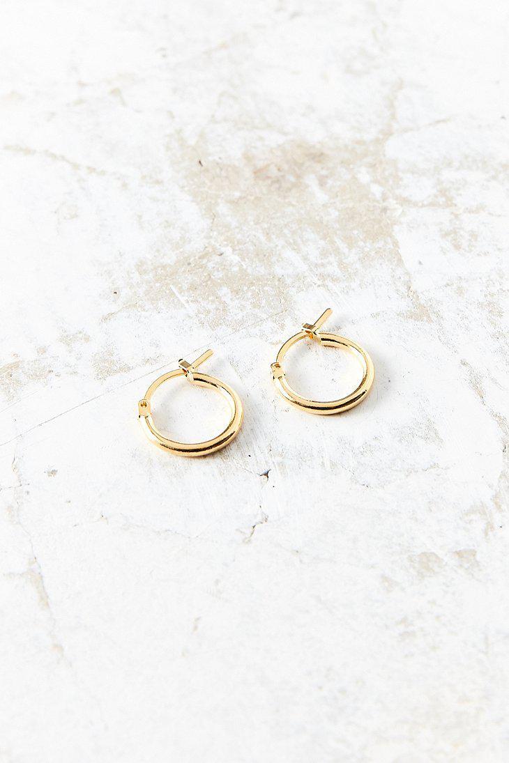 Lyst - Urban outfitters Simple Hoop Earring in Metallic