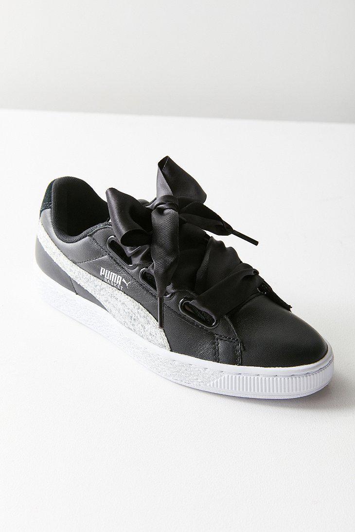 6740ab2569b5 PUMA Puma Basket Heart Glitter Sneaker in Black - Lyst