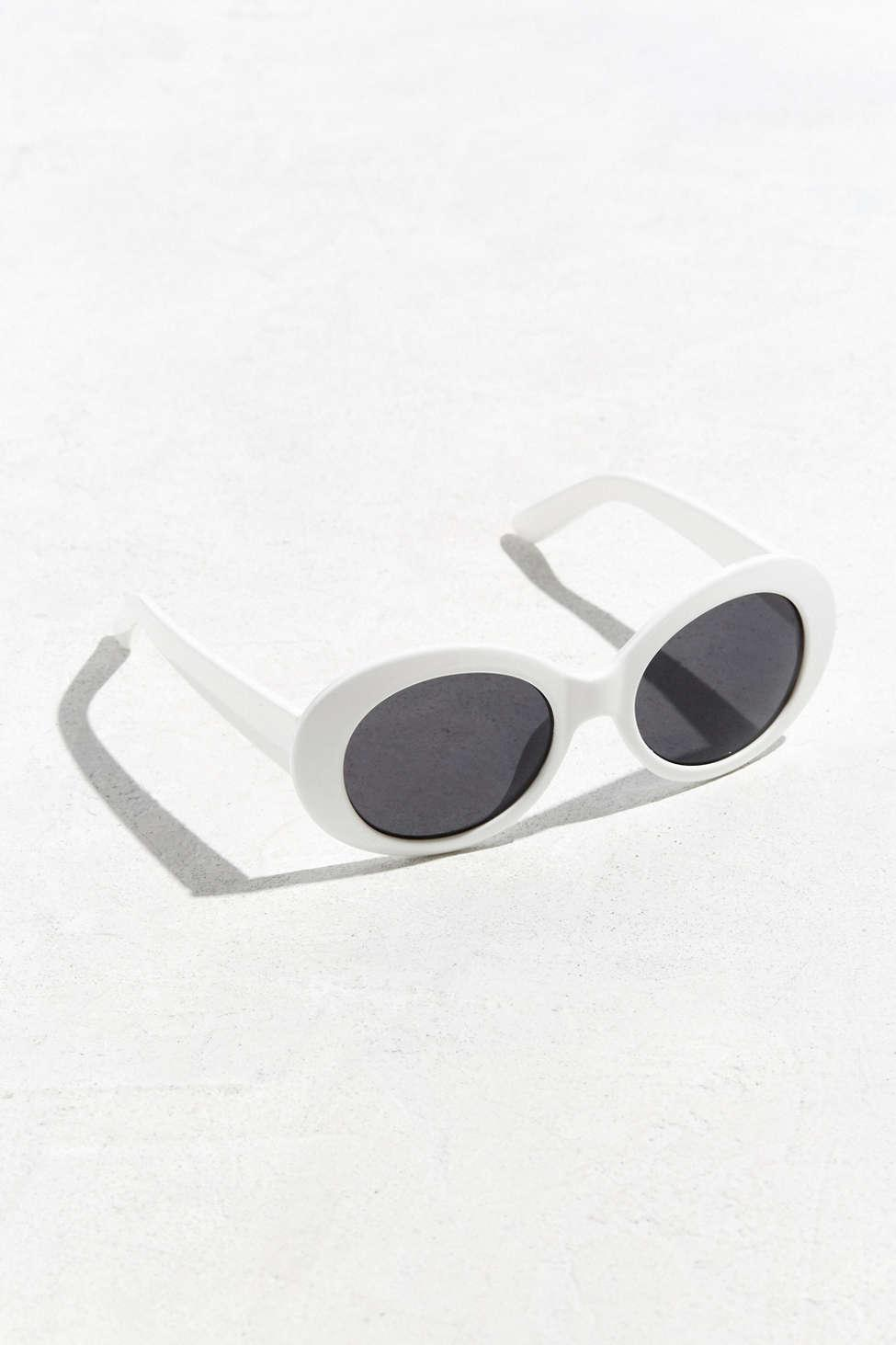 5d013f529a Lyst - Urban Outfitters Plastic Oval Sunglasses in White for Men