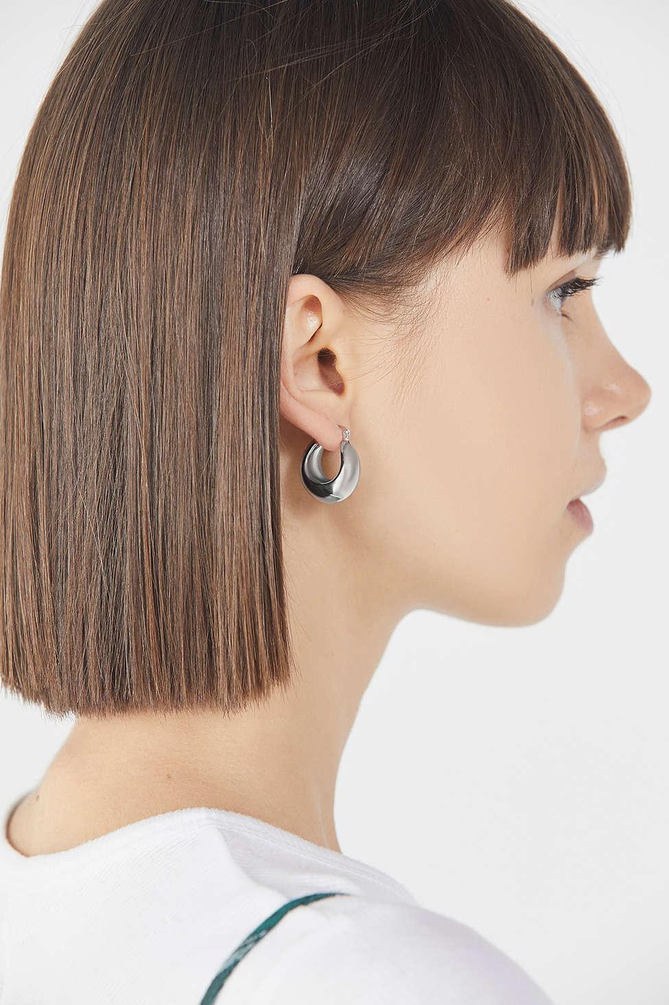 928b3db216c413 Urban Outfitters Cara Chunky Hoop Earring in Metallic - Lyst