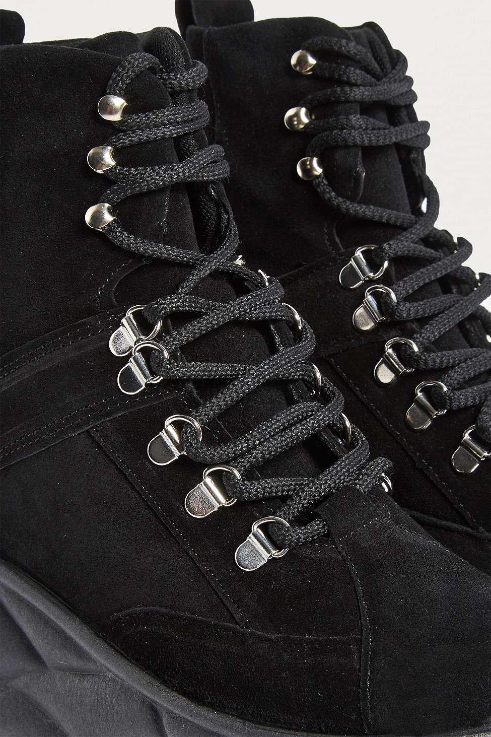 f6aa0a0a6317ab Urban Outfitters Uo Tia Chunky Suede Platform Boots - Womens Uk 3 in ...