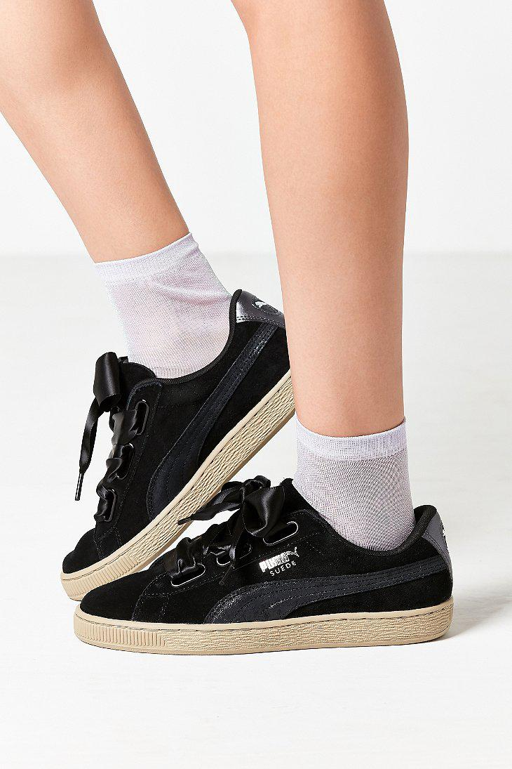 1ae97f8daf3 Lyst - PUMA Basket Heart Metallic Safari Sneaker in Black