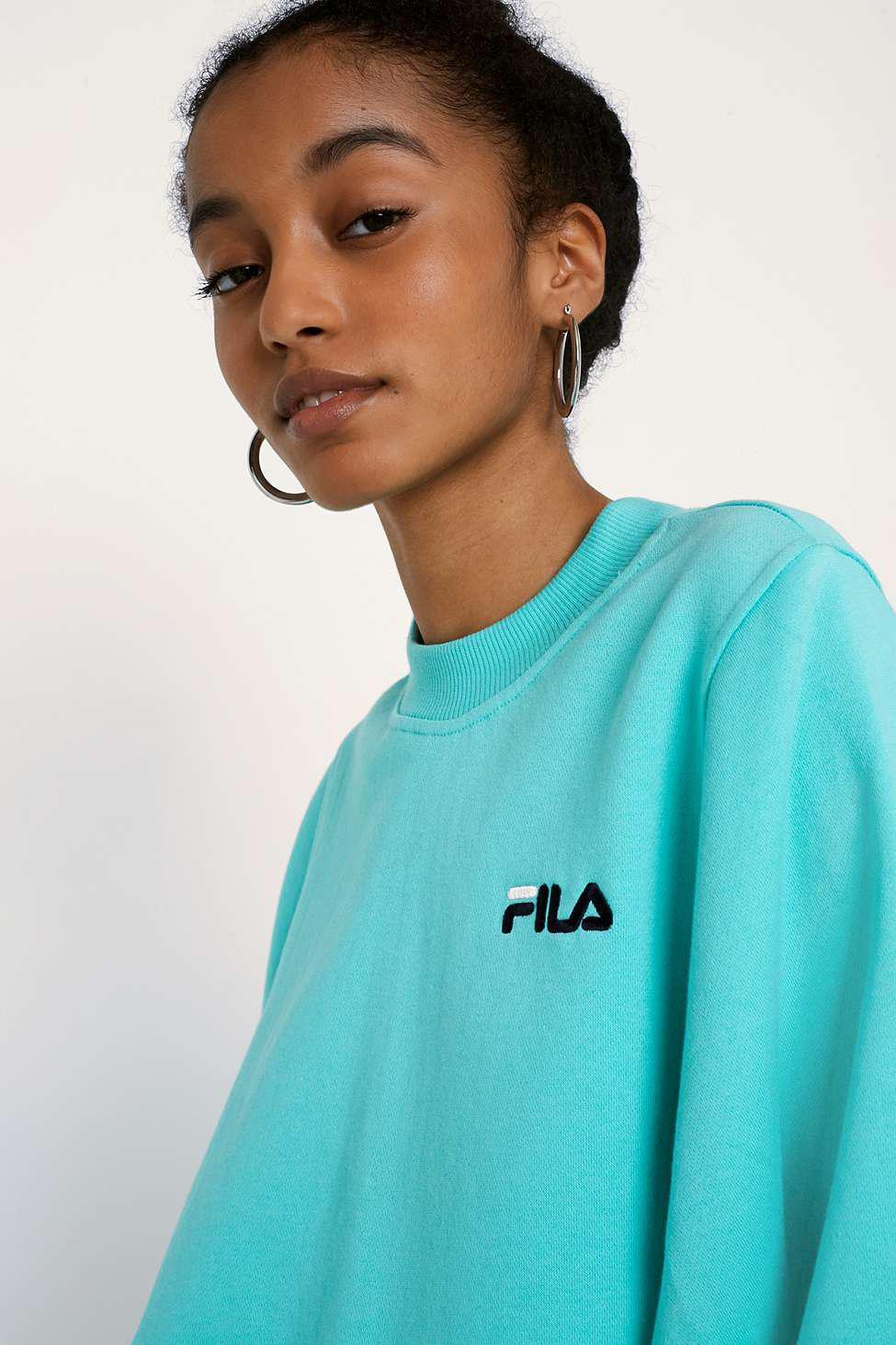 7d15c3da32d Fila Summer Teal Sweatshirt - Womens M in Green - Lyst