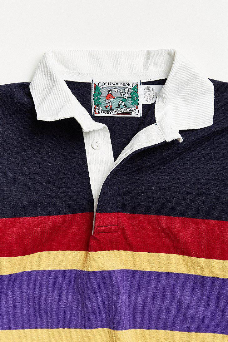 Lyst - Urban Outfitters Vintage Columbia Multi Chest Stripe Knit ... 91f5b5b51