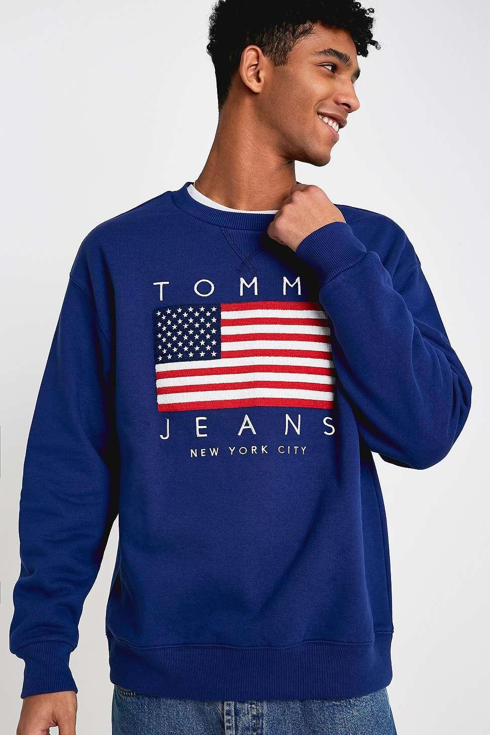 a1858edb8876 Tommy Hilfiger Usa Flag Print Blue Sweatshirt - Mens S in Blue for ...