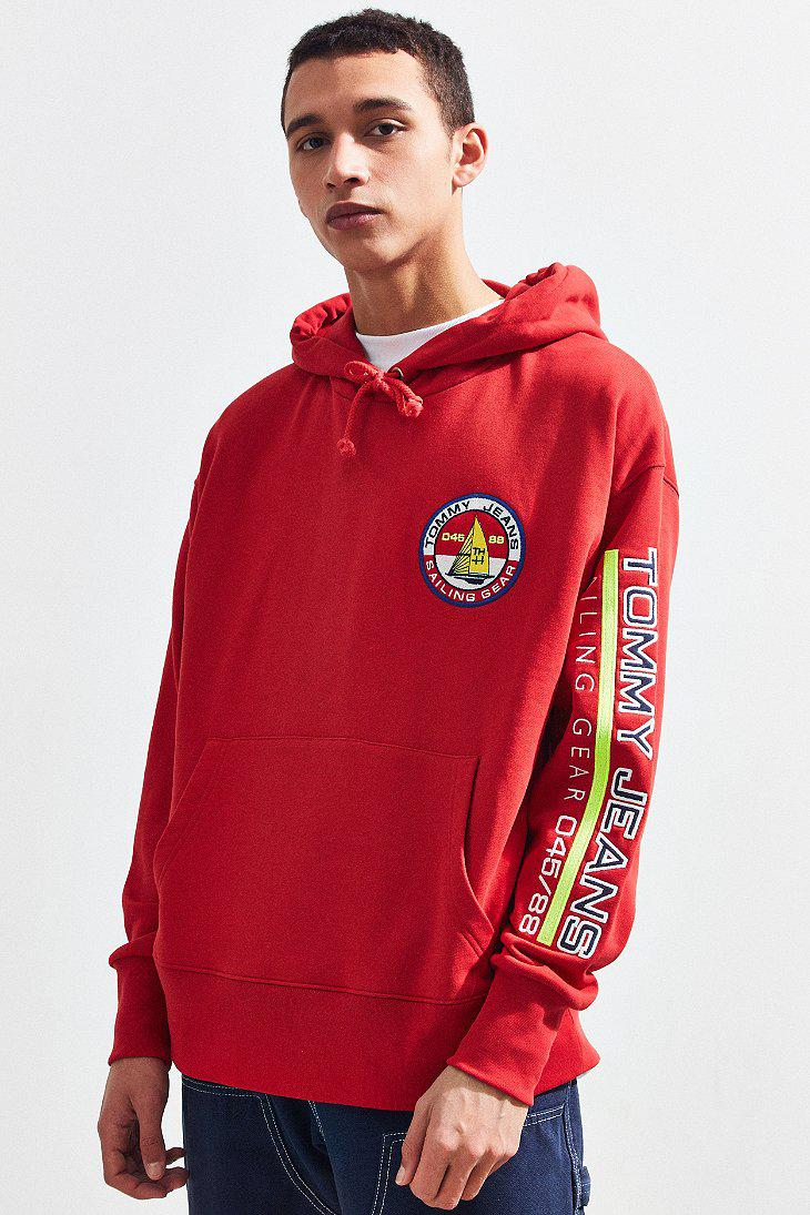 c8622d2f89e65d Lyst - Tommy Hilfiger Tommy Jeans  90s Sailing Logo Hoodie ...