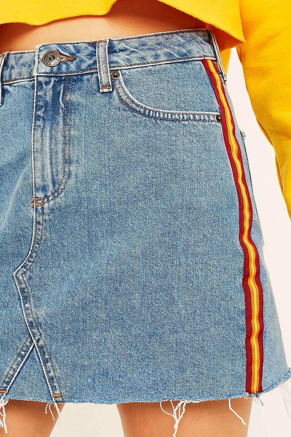 9b43e4e82b BDG Blue Vintage Side Stripe Denim Skirt - Womens S in Blue - Lyst