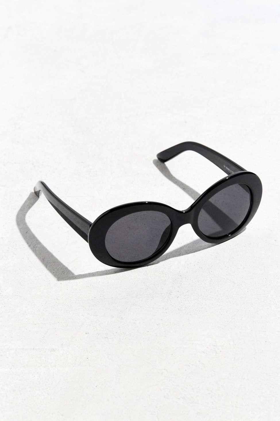 2f786af1a4 Lyst - Urban Outfitters Plastic Oval Sunglasses in Black for Men