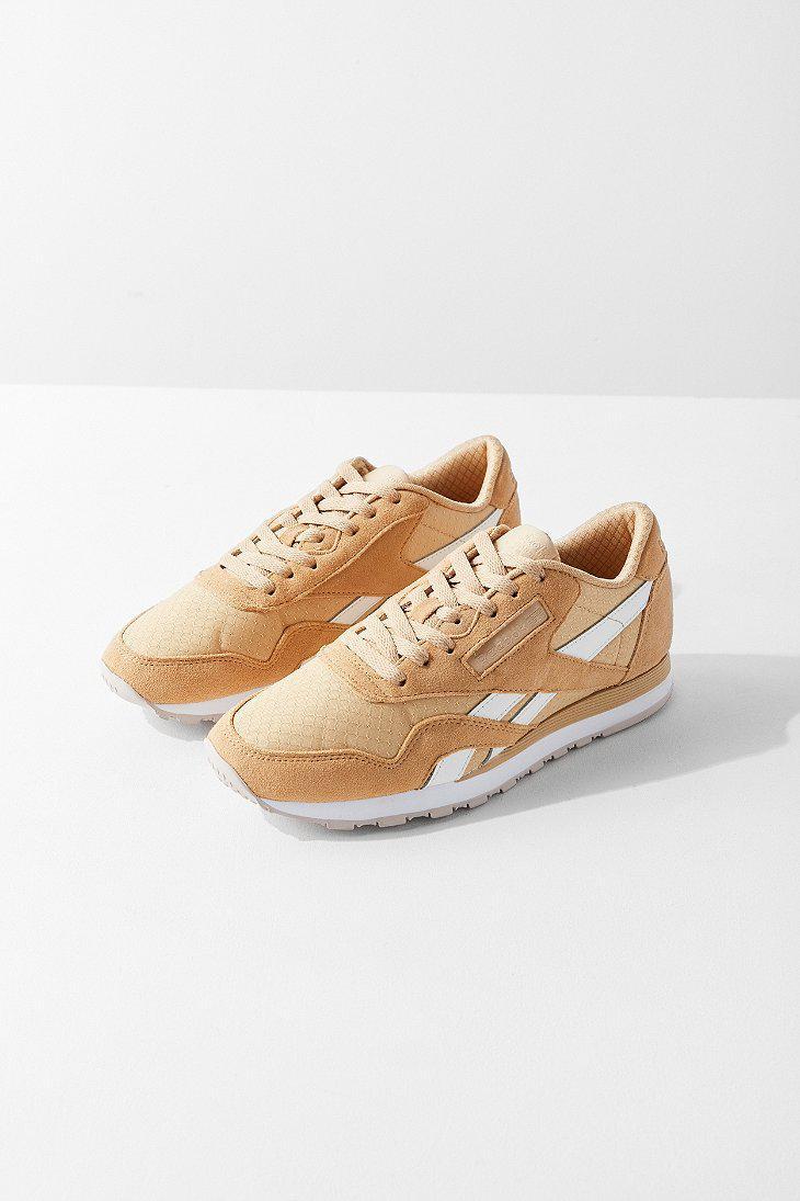Lyst - Reebok Reebok Classic Nylon Rs Sneaker in Metallic a67cda776