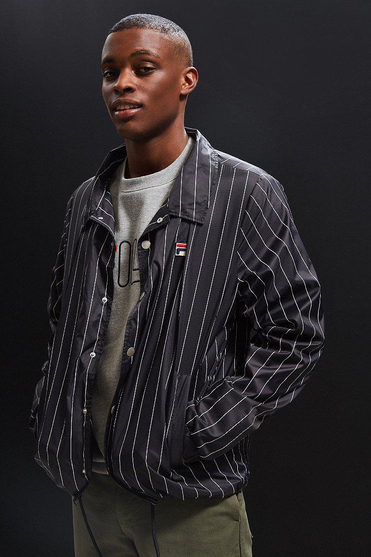 4e4184399594 Fila Fila Austin Coach Jacket in Black for Men - Lyst