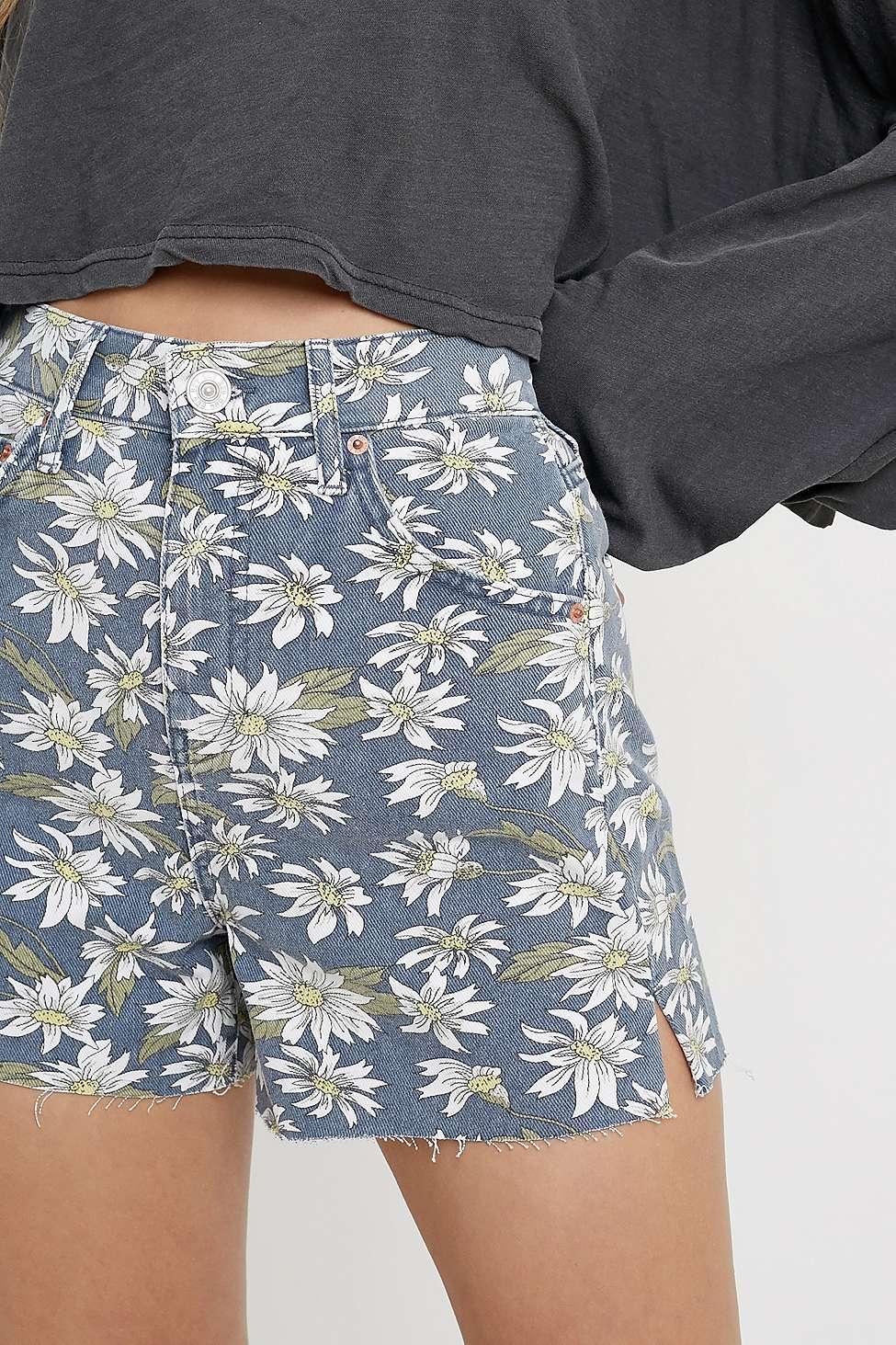 dc35af6f9 ... Daisy Print Denim Shorts - Womens 28w - Lyst. View fullscreen