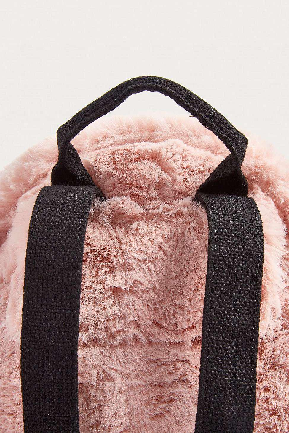 753b9e1fe408 Urban Outfitters Uo Mini Faux Fur Backpack - Womens All in Pink - Lyst