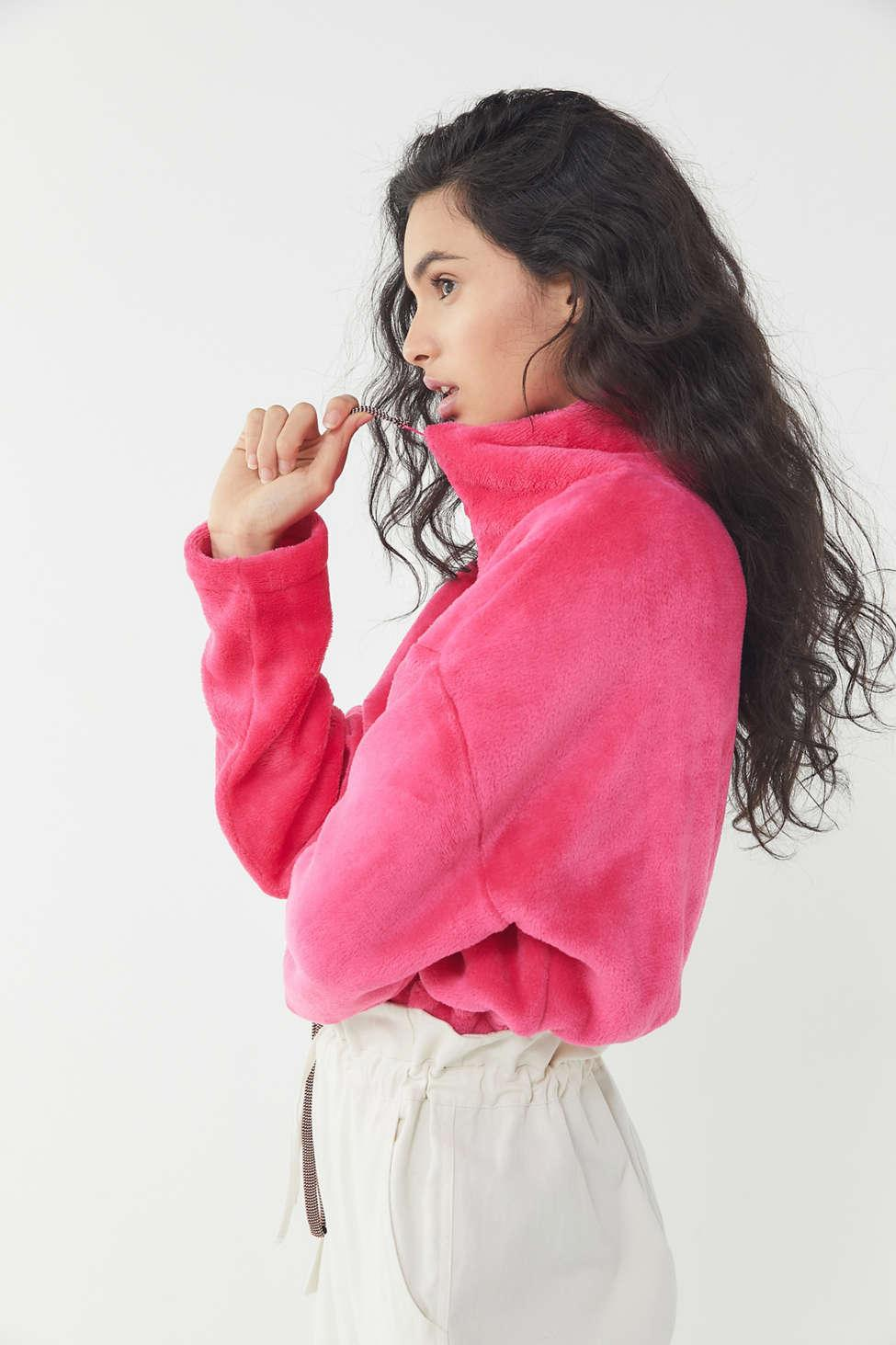 a44f29a89 Lyst - Urban Outfitters Uo Angela Fleece Pullover Sweatshirt in Pink