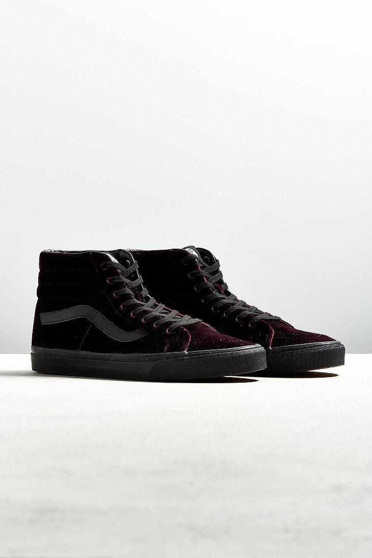 3742ae83d89bb0 Lyst - Vans Vans Sk8-hi Reissue Burgundy Velvet Sneaker in Black for Men