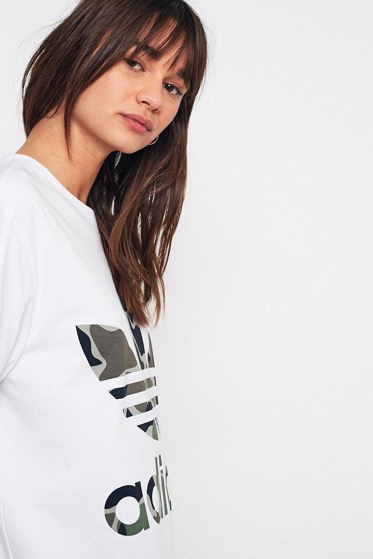 Adidas Originals Trefoil grande T - shirt Camo grande Trefoil Lyst en blanco a99619
