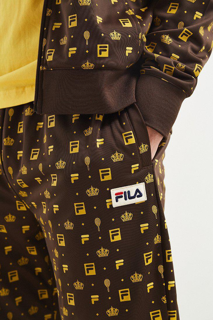 3b27f3475c89 Fila Fila Monogram Track Pant in Brown for Men - Lyst