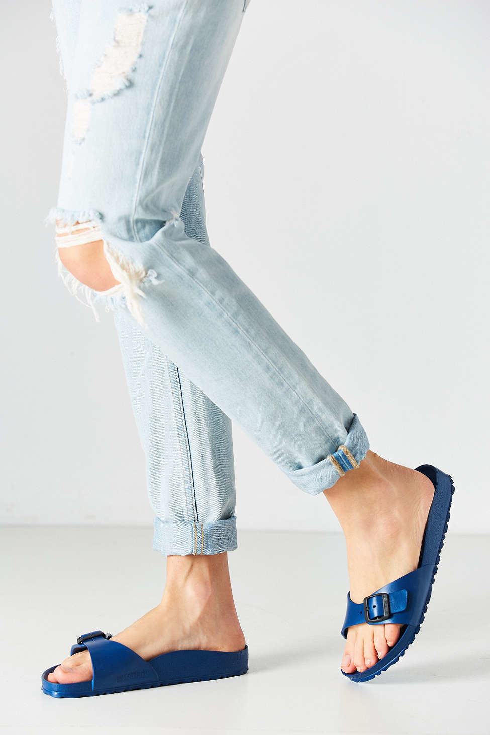 Birkenstock Madrid Eva Slide In Blue Lyst