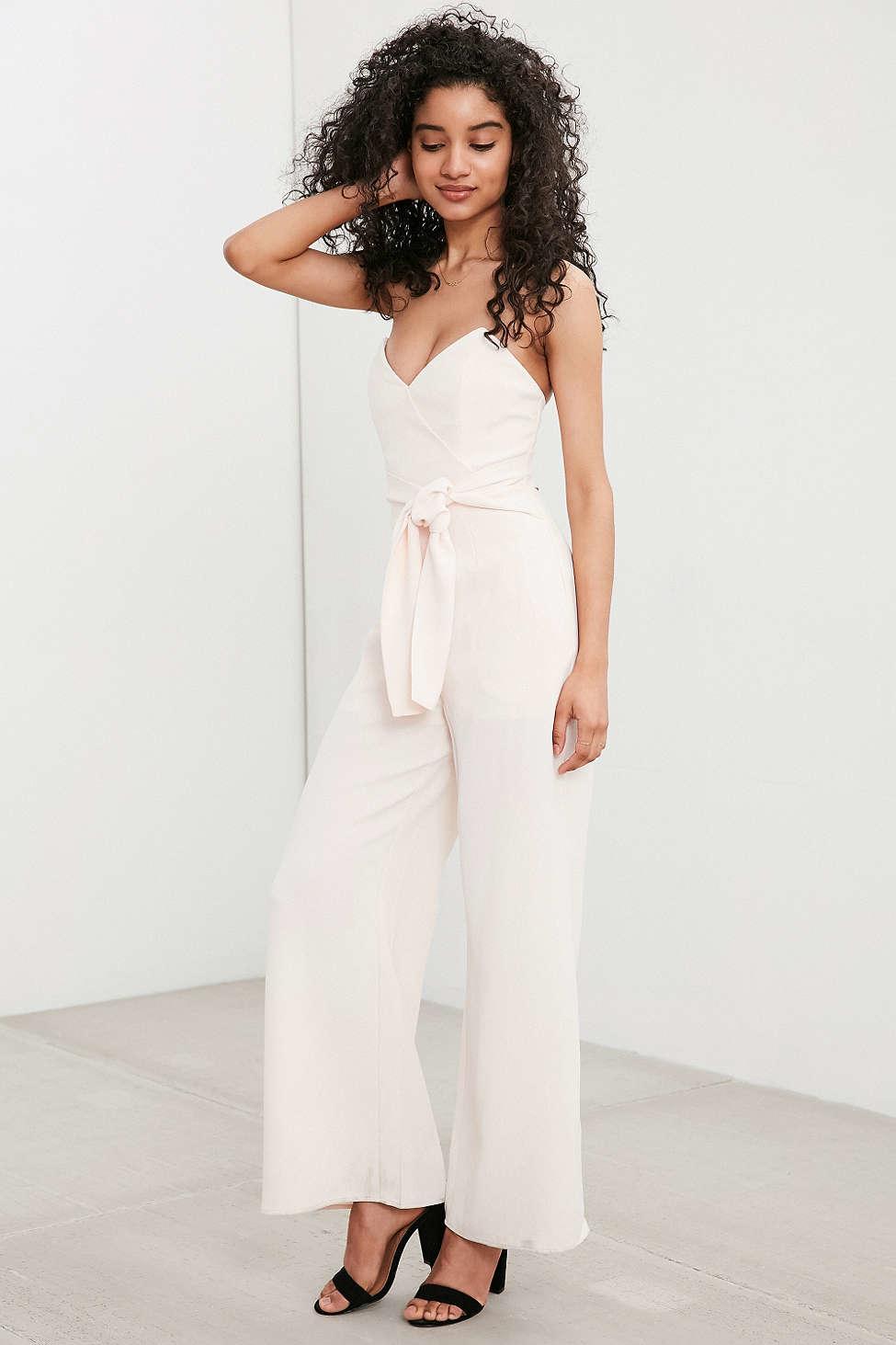 Keepsake Get Free Strapless Jumpsuit in Pink | Lyst