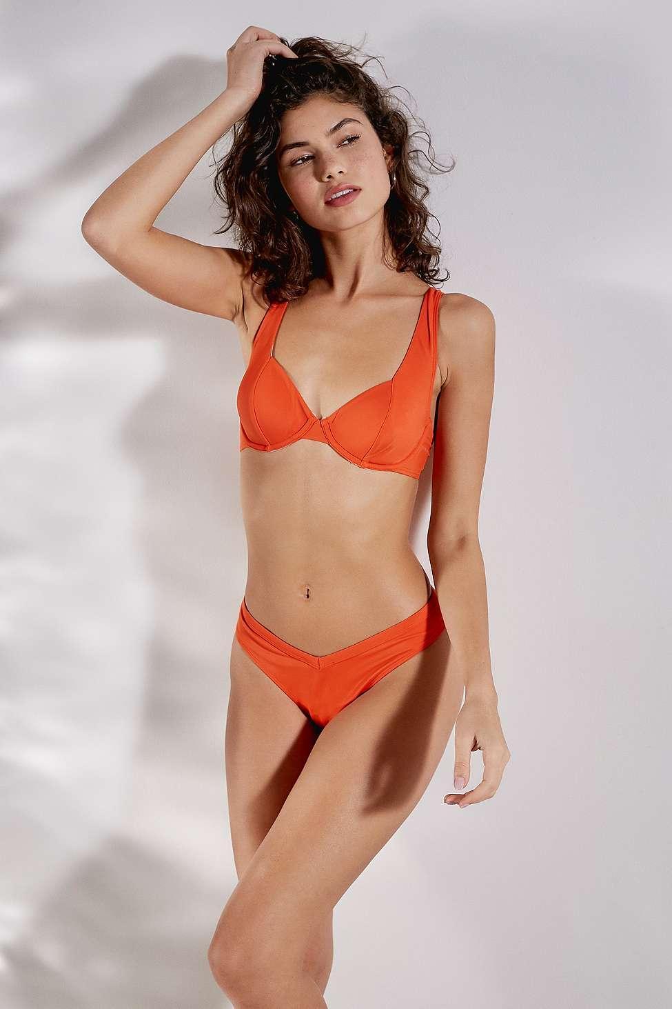 7bfa12aa2b Out From Under - Orange Tulip Underwire Bikini Top - Lyst. View fullscreen