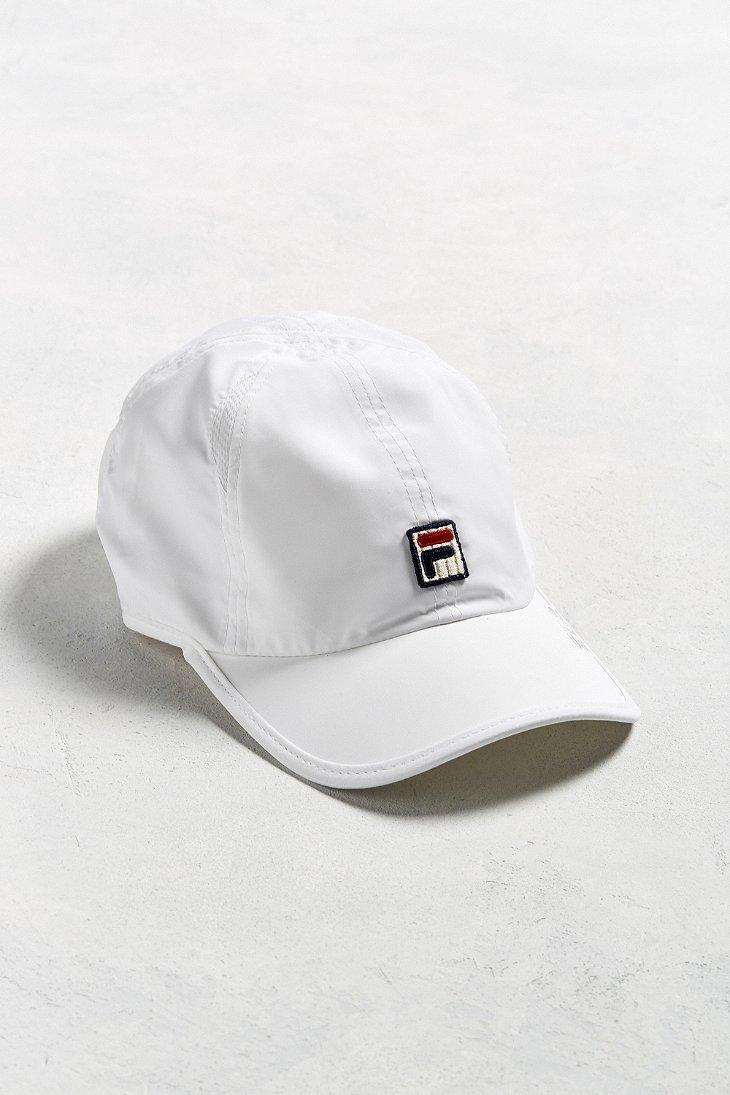Lyst - Fila Runner Baseball Hat in White for Men 7d3eed8e8a5a