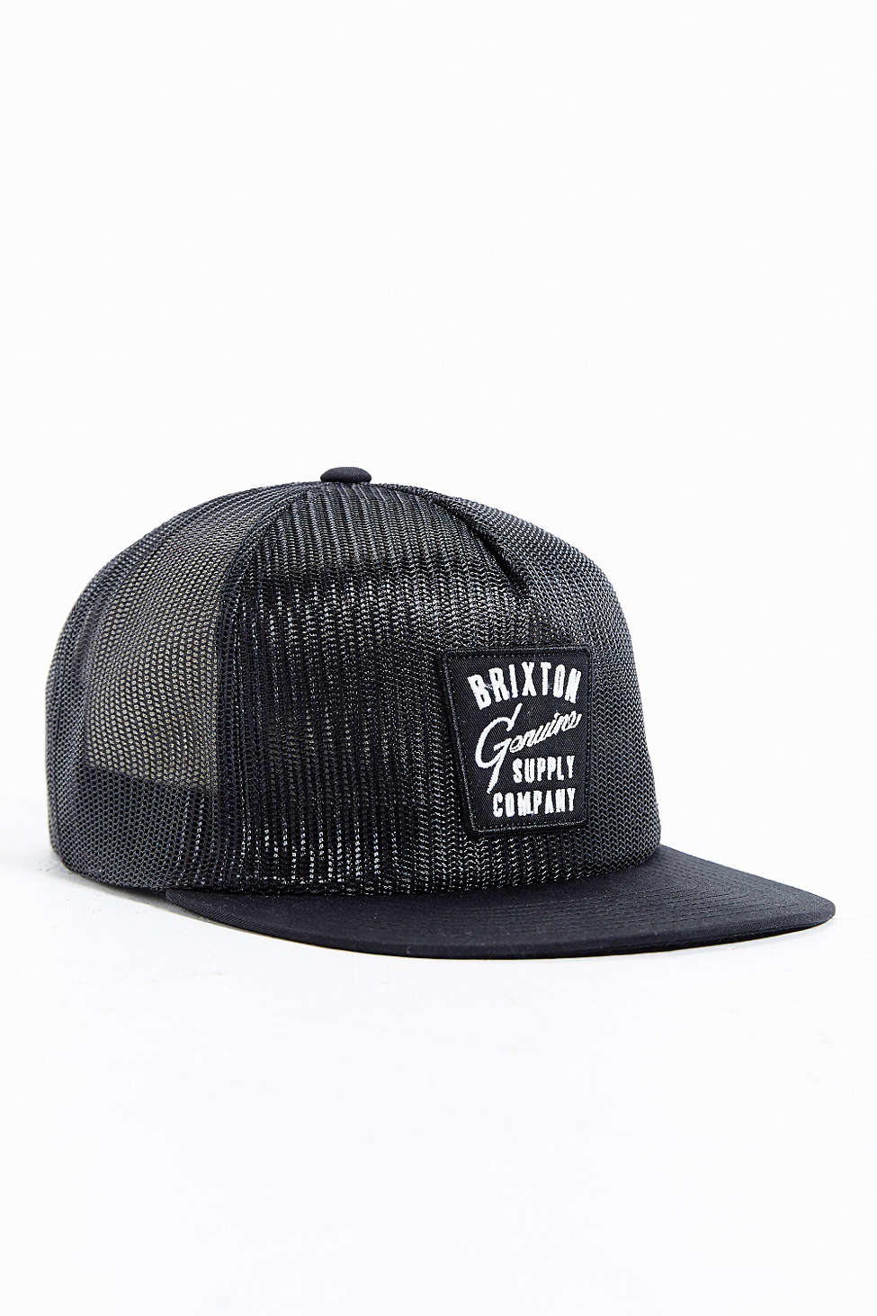 Lyst - Brixton Mesh Trucker Hat in Black for Men 1dea938f34a