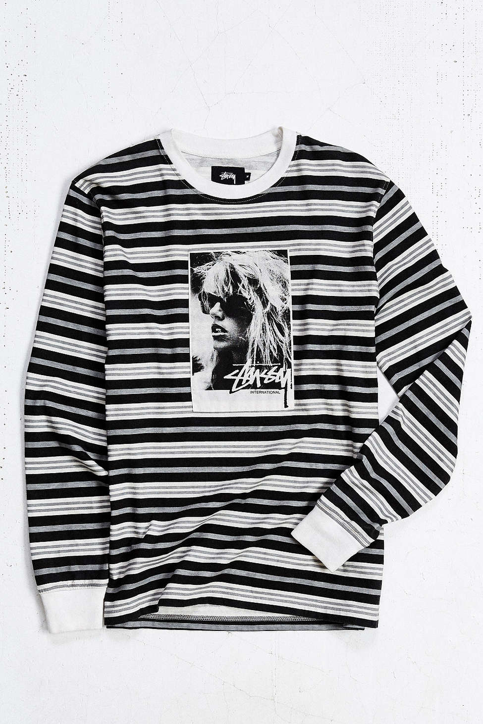 f0f99ea92a1c2 Lyst - Stussy Laura Stripe Long-sleeve Tee in Gray for Men