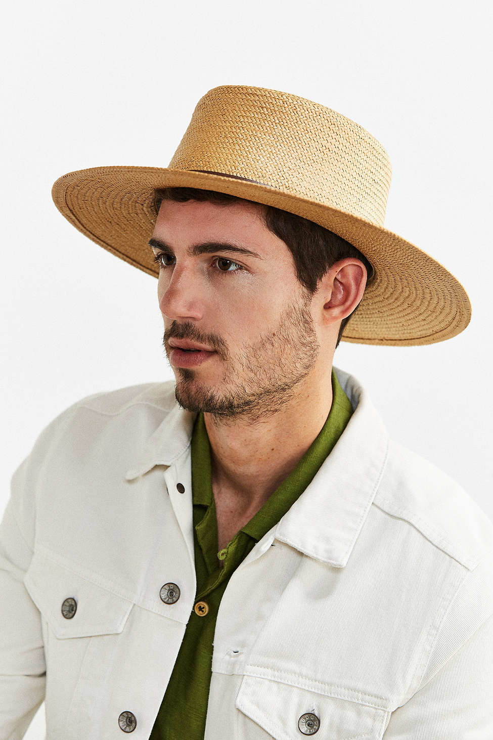 e6aa675427f1 Lyst - Urban Outfitters Wyeth Straw Boater Wide Brim Hat in Natural ...
