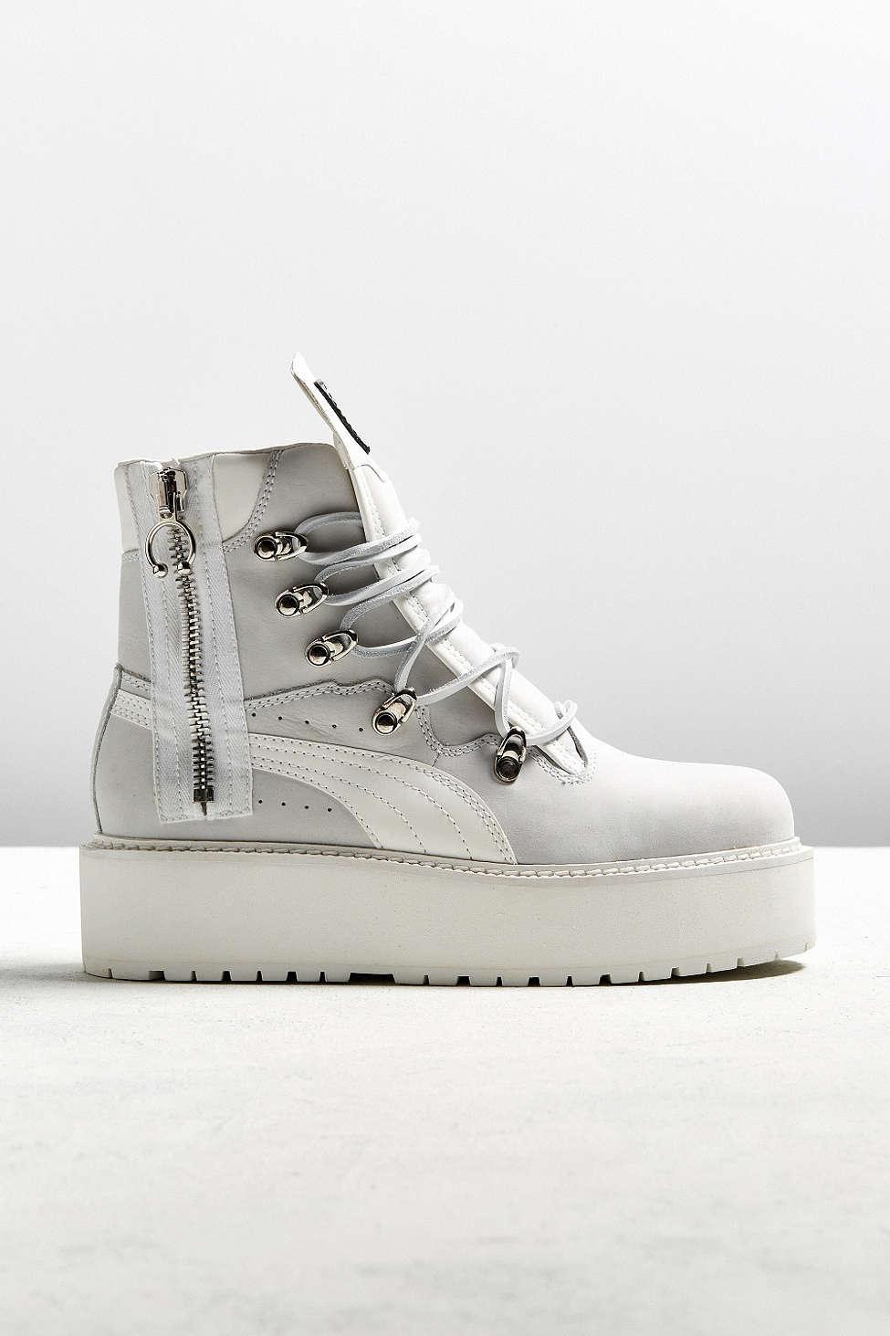 Lyst - PUMA Fenty By Rihanna Sneakerboot in White dfcb19879