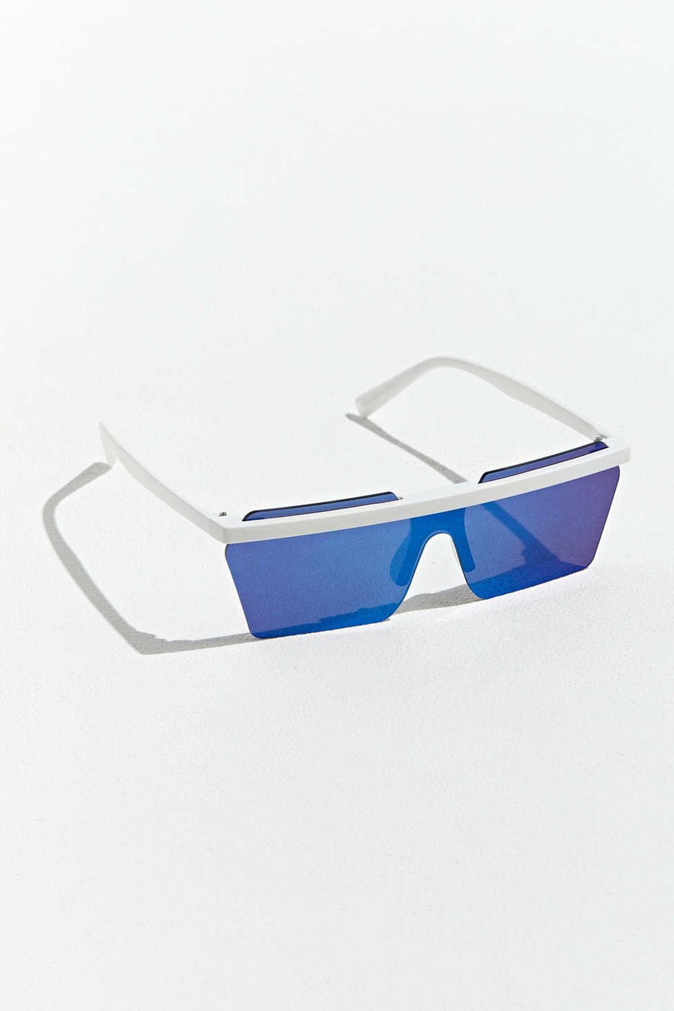 488d2d2e16 Lyst - Urban Outfitters Frameless Mod Flat Lens Sport Sunglasses in ...